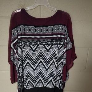Chevron design blouse
